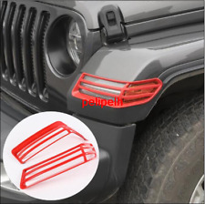 ABS Red Wheel Eyebrow Lampshade frame Trim For Jeep Gladiator JT 2018-2020