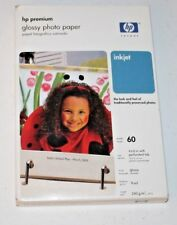HP Premium Inkjet Glossy Photo Paper 60-4x6 sheets 9 mil thickness NEW (GM1)