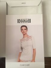 Wolford  Clair Shirt TOP Medium 14  WHITEWASH OFF WHITE BNIB  RRP £125 NOT OPEN
