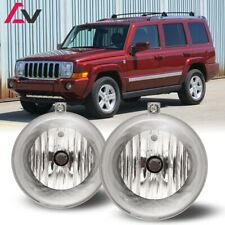 For Jeep Commander 06-10 Clear Lens Pair Bumper Fog Light Lamp OE Replacement