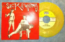 "Sick & Wrong 7"" 45 EP Sub Pop 156 E+ Condition Wesson Oil +2 Puke Green Vinyl"