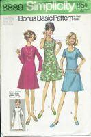 S 8889 sewing pattern 70's Half-Size DRESS princess seams sew gorgeous 22½ UNCUT