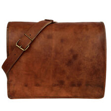 Fair Trade Handmade Large Brown Leather Courier/Messenger Bag - 2nd Quality