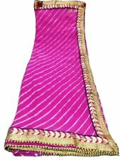 Karigar Rajasthani Handmade Women Chiffon Saree With Unstitched Blouse Piece