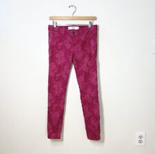 ABERCROMBIE & FITCH size 6 floral jacquard skinny jeans