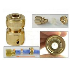 """1/2"""" Brass Auto Water Stop Quick Fit Female Hose Pipe Connector Hoselock Clip"""