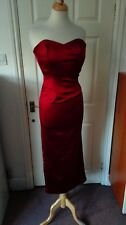 Coast Deep Red Sleeveless Maxi Dress Evening Dress Size 8 *VGC*