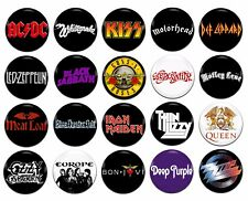 20x Heavy Rock Bands Artists Various 25mm / 1 Inch D Pin Button Badges