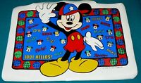 RARE VTG Walt Disney Mickey Mouse Place Mat 1001 Hellos Collectors World Tour