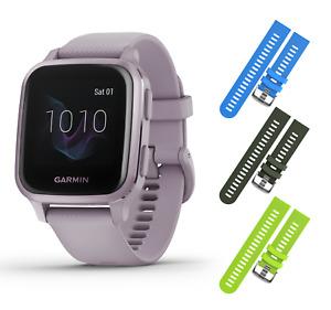 Garmin Venu Sq Sport or Music GPS Fitness Smartwatch with Wearable4U 3 Straps