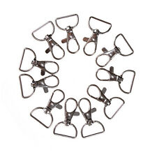 10pcs/set Silver Metal Lanyard Hook Swivel Snap Hooks Key Chain Clasp Clips HL