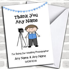 Thank You For Being Our Wedding Photographer Male Thank You Customised Card