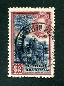 x115 - BRITISH HONDURAS 1938 SG #160 Used - $2 High Value Definitive. Cat: £45