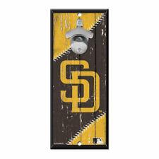 MLB San Diego Padres SD Bottle Opener Wood Sign Holzschild Holz Wandschmuck