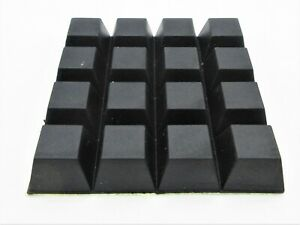 """3/4"""" Rubber Feet Tapered Square with 3M Adhesive Backing.  3/8 Height."""