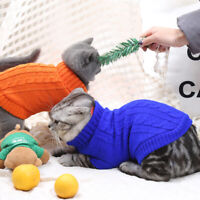 Winter Warm Pet Knitted Jumper Sweater Dog Coat Jacket Chihuahua Cat Dog Clothes
