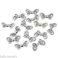 50 Antiksilber Metallperlen Beads Spacer Charms Schmetterling 17.5x9mm
