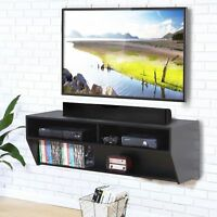 """48.5"""" Wood TV Stand Wall Mount Entertainment Console Cntr Desk Floating Shelf US"""