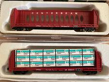 N Scale 60' Centerbeam Bulkhead Flat Car CP Rail Canadian Pacific Set Load MTL
