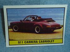 Sammelsticker Nr. 182 Bild Sticker Auto 2000 911 Carrera Cabriolet Panini 1985