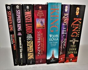 Stephen King The Dark Tower Series Books 1-7 Set TRADE Paperbacks VG