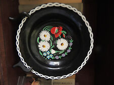 "Vtg Ditmar-Urbach Czech Signed Hand-painted Collector's 8 1/2""  deep soup Black"