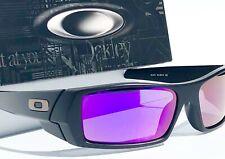 NEW* OAKLEY GASCAN Matte BLACK POLARIZED Galaxy Purple Violet Sunglass 9014