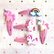 Unicorn Hair Clips Assorted Designs 2 per pack
