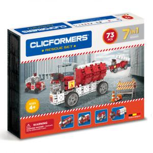 Genuine Clicformers Rescue 73 Set pcs set - 3D Building Construction Toys