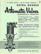 MRO Brochure - Atkomatic - Extra Rugged Industrial Valves - c1952 (MR128)
