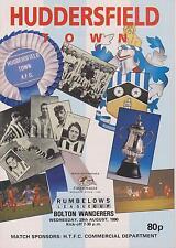 Bolton Wanderers Huddersfield Town V 90-91 Taza de Liga coinciden con