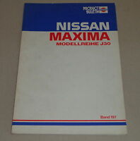 Workshop Manual Technical Information Bulletin Nissan Maxima J30 Stand 1989