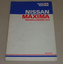Taller de manual de información técnica Bulletin nissan maxima j30 stand 1989