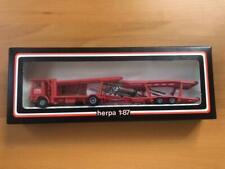 Herpa 1/87 800440 Volvo Autotransporthängerzug Cotra OVP Rot Autotransporter