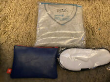 UNITED AIRLINES polaris Bundle pajama S/M,slippers ,spiderman first class kit