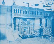 1896 Bedford Lemere & Co Cyanotype Intérieurs Anglais British Interiors Plate 8