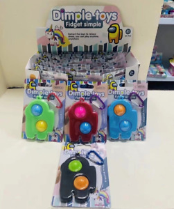S053 Amung Us Dimple Keychain Kids Fidget Sensory Toy (1Pc)