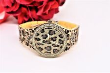 GUESS Women's Watch U0015L2 Leopard pattern w/ Crystals w/ Guess Pouch Brand New