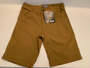 Simms NWT Gallatin Mens Short Dark Bronze Size 30