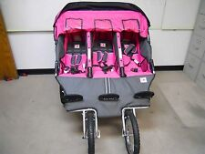 BebeLove 475 EVO-TS Triple Baby Jogging Stroller Pink