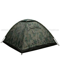 Outdoor Camping Waterproof 4 Person Folding Tent Camouflage Hiking Family Travel