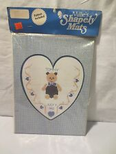 "Heart Shaped Cross Stitch Mat With Pattern~Mat=9""x 12"" Opening=7""x 5 ~Millie's"