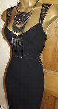 Stunning ❤️ £265 Karen Millen Black Long Aztec Tribal Ballgown Dress Size 14