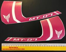 2x Pink Sticker MT-07 250mm Wide X 106mm Tall Stickers Decal