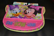 Set of Disney Minnie Mouse Daisy Duck Toddler Bibs  NWT NEW  NIP NEW