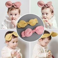 Cute infant Baby Girls Toddler Bow Headband Hair Band Headwear Accessories