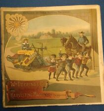 RARE orig 1890 HARVESTER Machinery CATALOG Wm Deering TRACTOR International IH