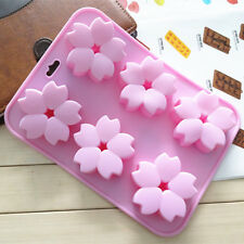 6 Flowers Sakura Silicone Cake Mold Handmade Soap Molds Six Cherry Blossom Jelly