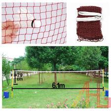 20' Professional Standard Training Badminton Net Outdoor Sport 6.1m X 0.79m UK