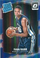 2017-18 OPTIC PRIZMS HOLO RC IVAN RABB MEMPHIS GRIZZLIES RATED ROOKIE CL669